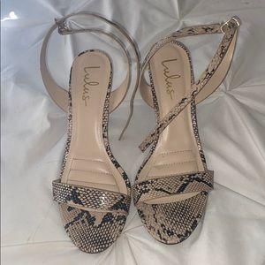 Lulus snake print heels